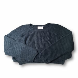 Ambiance Black Sweater Crop Top